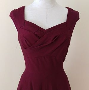 Dresses & Skirts - Burgundy Cranberry Cocktail Swing Dress